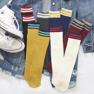 Accessories - 6 Pairs Cotton Sprout Women Mid Calf Socks